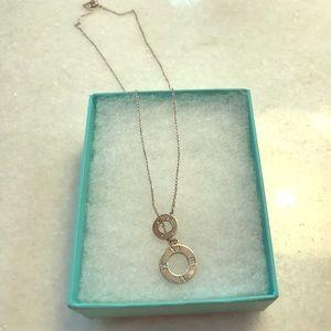 Tiffany atlas circle lariat necklace